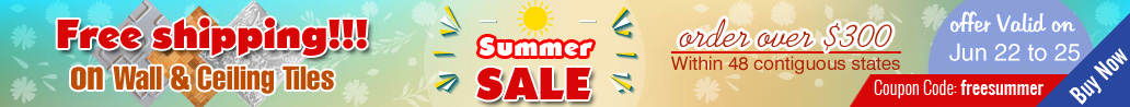 Summer Sale - Free shipping on Wall & Ceiling Tiles
